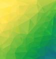 yellow green diagonal polygonal triangular pattern vector image