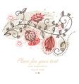Cute Pastel Floral Design vector image