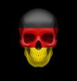 German flag skull vector image vector image