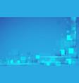 abstract technology digital hi tech rectangles vector image