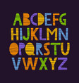 cute hand drawn alphabet vector image