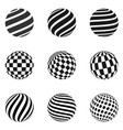 minimalistic shapes halftone black color spheres vector image