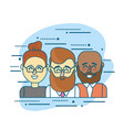 set businesspeople with hairstyle design and vector image