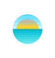 Sunrise at the sea logo vector image