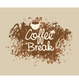 coffee break with a cup vector image vector image