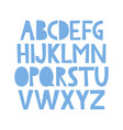 cute hand drawn alphabet with sea pattern vector image