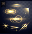 transparent light effect and lens flare collection vector image