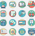 Outline set business icons vector image