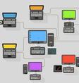 Abstract modern network scheme vector image vector image