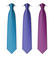 Houndstooth and zigzag patterns ties vector image