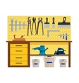Working table with spanner vector image