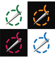 Sewing needle set vector image