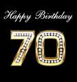 70 happy birthday vector image