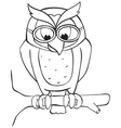 Owl on branch vector image vector image