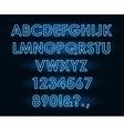 neon tube light letters font vector image