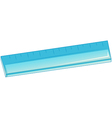 A blue ruler vector image