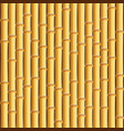 brown bamboo stick pattern background vector image