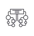 diagram block line icon sign vector image