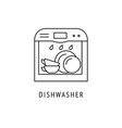 dishwasher outline icon vector image