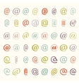 icon set of colored mail dogs vector image