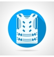 Paintball vest round icon vector image