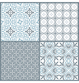 Set of four vintage decorative symmetric seamless vector image