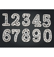 Set of numbers from the tree branches vector image
