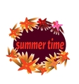 Summer time template for banner postcard with vector image