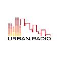 urban radio concept vector image