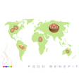 World Map with Egg Production and Consumption vector image