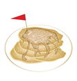 Five Tradition Pancakes with Icing and Honey vector image vector image