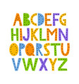 cute and happy hand drawn alphabet vector image vector image