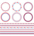 4th of july frames and borders vector image