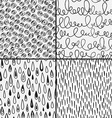 Set of abstract doodles with doodles circkes drops vector image