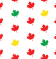 Pattern maple leaves vector image vector image