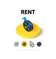 Rent icon in different style vector image