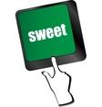 sweet word button on keyboard keys vector image vector image