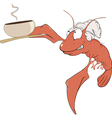 a red lobster a cook cartoon vector image
