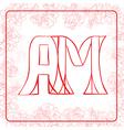 AM monogram vector image