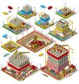 City Map Set 04 Tiles Isometric vector image