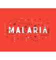 Design concept epidemic of malaria vector image