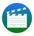 film clap board cinema sign white icon in vector image