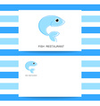 fish restaurant card vector image