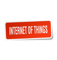 Internet of things square sticker on white vector image