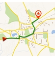 Navigation map with pin vector image