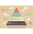 Pyramid Chart Flat Style Infographic vector image