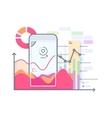 Schedule pulse on smartphone vector image