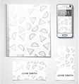 Template branded products with monochrome vector image