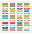 Web color buttons in flat stile isolated on a with vector image