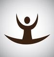 yoga design vector image